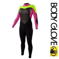Гидрокостюм Body Glove 2015 (Женский) Eos Bk/Zip 4/3 Green