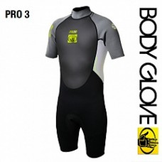 Гидрокостюм Body Glove 2015 Pro3 2/1 Springsuit Shorty Grey/Lime