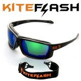 Очки для кайтсерфинга Kiteflash Brilliant Black Amalgam lenses green