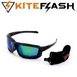 Очки для кайтсерфинга Kiteflash Brilliant Black Amalgam lenses green