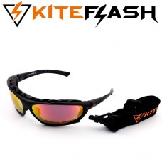 Очки для кайтсерфинга Kiteflash Galaxy Black Amalgam lenses red