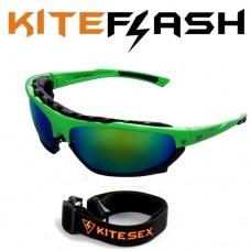 Очки для кайтсерфинга Kiteflash Hawai Jungle Amalgam lenses green