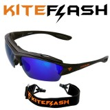 Очки для кайтсерфинга Kiteflash Brilliant Black Amalgam lenses blue
